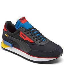 Men's Future Rider Neon Play Casual Sneakers from Finish Line