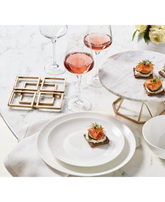Round Rim Bone China  12-Pc. Bone Dinnerware Set, Created for Macy's