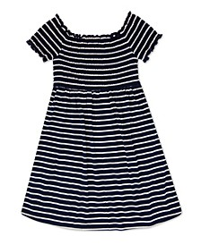 Little Girls Smocked Bodice Stripe Dress