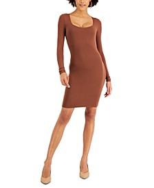 Bodycon Crepe Scoop-Neck Mini Dress, Created for Macy's