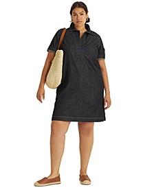 Plus Size Denim Shift Dress