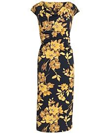 Plus Size Cowlneck Midi Dress