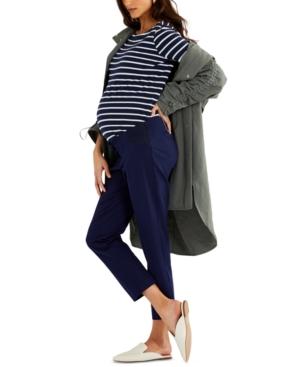 Maternity Straight-Leg Twill Pants