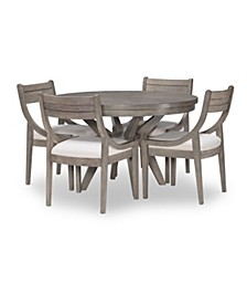 Greystone 5pc Dining Set (Round Table & 4 Side Chairs)