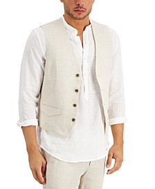 Men's Linen Vest, Created for Macy's