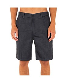 """Men's Black Suit Stretch 21"""" Chino Shorts"""