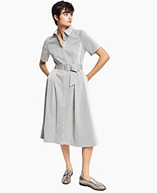 Embossed Faux-Leather Shirtdress, Created for Macy's