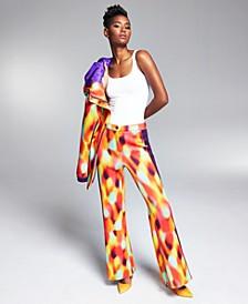 Misa Hylton Scuba Printed Pants, Created for Macy's