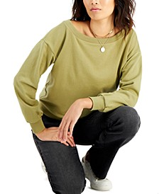 Off-The-Shoulder Sweatshirt, Created for Macy's