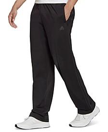 Men's Primegreen Essentials Warm-Up Open Hem 3-Stripes Track Pants