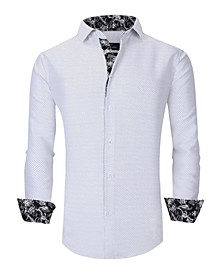 Men's Big and Tall Slim Fit Business Nautical Button Down Dress Shirt
