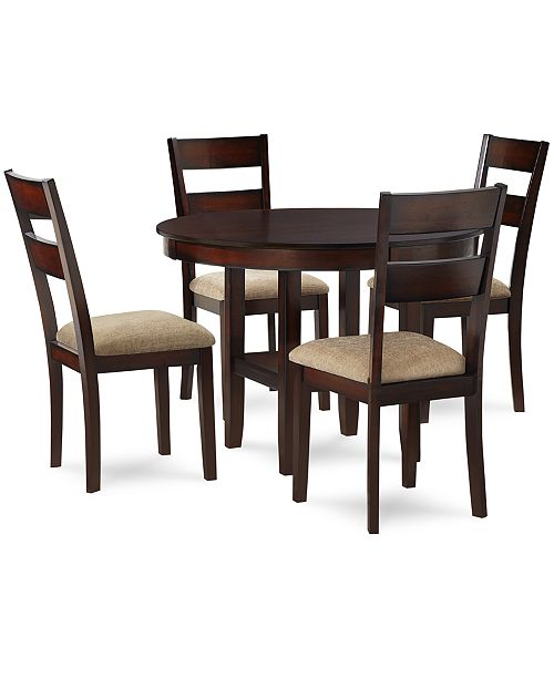 Furniture CLOSEOUT! Branton 5-Piece Dining Room Furniture Set