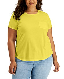 Plus Size Cotton Pocket T-Shirt, Created for Macy's