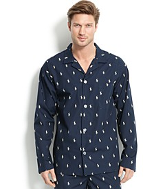 폴로 랄프로렌 파자마 상의 Polo Ralph Lauren Mens All Over Polo Player Pajama Shirt