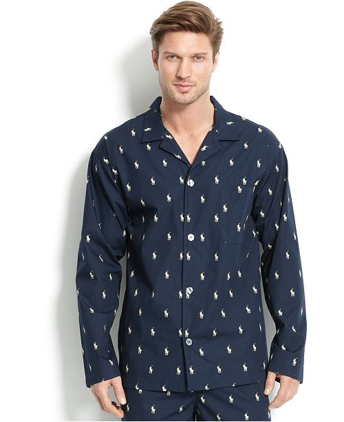 3c9701ddd2 Polo Ralph Lauren Men s All Over Polo Player Pajama Shirt   Reviews ...