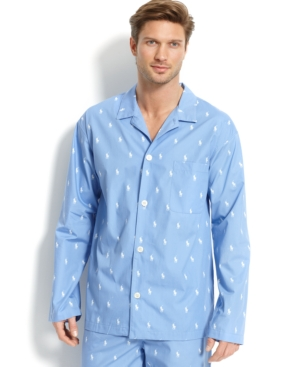 Polo Ralph Lauren Men's All Over Polo Player Pajama Shirt