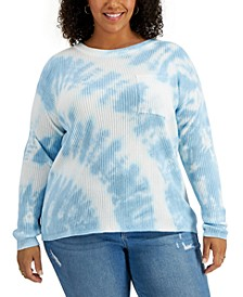 Plus Size Geode Tie-Dyed Top, Created for Macy's