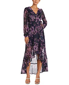 Surplice High-Low Gown