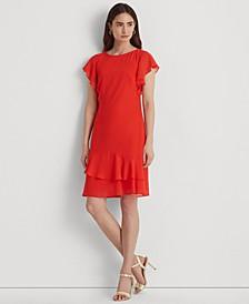Georgette Boatneck Dress