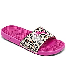 Women's Cool Cat Cheetah Slide Sandals from Finish Line