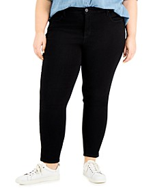 Plus Size Mid Rise Skinny-Leg Jeans, Created for Macy's