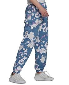 Women's Floral-Print Track Pants
