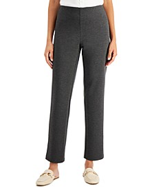 Heathered Ponté-Knit Pants, Created for Macy's
