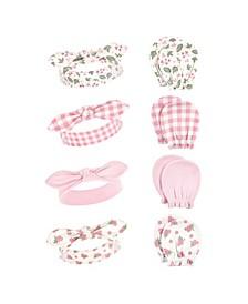 Girls Headband and Scratch Mitten, 8 Piece Set