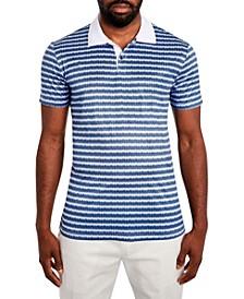 Men's Texture Stripe Polo