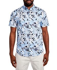 Men's Hawaiian Print Short Sleeve Shirt