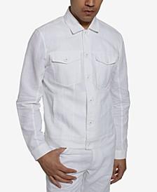 Men's Linen Trucker Jacket