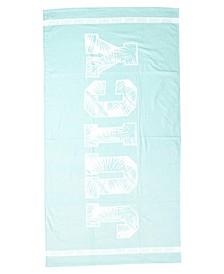 """Leaf Logo Beach Towel, 36"""" x 68"""""""