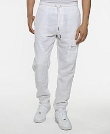 Men's Linen Utility Jogger Pants
