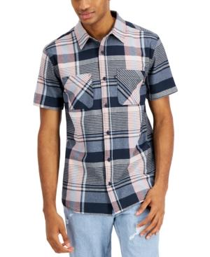 Men's Napoleon Short Sleeve Plaid Shirt