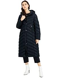 Juniors' Hooded Maxi Coat, Created for Macy's