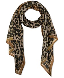 Leopard-Print Long Scarf
