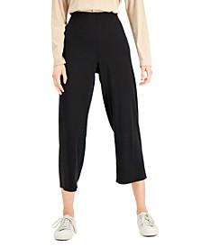 Cropped Straight-Leg Pants, Regular & Plus Size