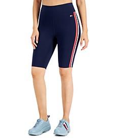 Striped Bike Shorts