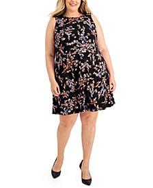 Plus Size Gwen Floral-Print Dress