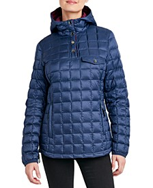 Hooded Pullover Packable Puffer Coat