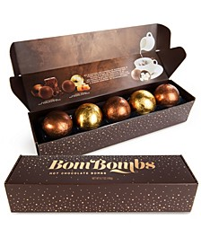 10 Piece Fudge Brownie and Caramel Candy Hot Chocolate Bombs with Marshmallows, 2 Sets of 5