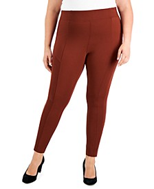 Plus Size Skinny Ponte Pants, Created for Macy's