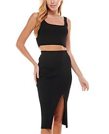 Ribbed 2-Pc. Bodycon Dress