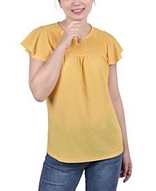 Women's Short Flutter Sleeves Blouse