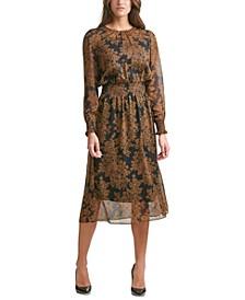 Blouson Midi Dress