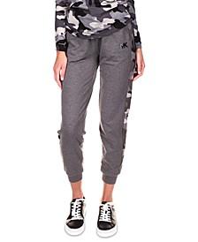 Exclusive Camo-Stripe Jogger Pants