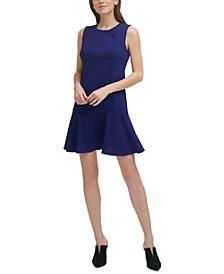 Buttoned Drop-Waist Dress