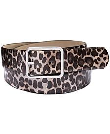 Metallic Animal-Print Belt, Created for Macy's