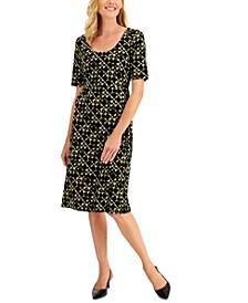 Petite Printed Midi Dress