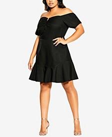 Plus Size Cute V Dress